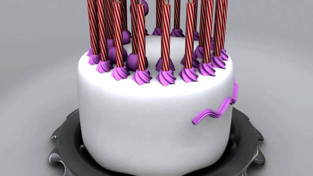 Animated Birthday Cake  Happy Birthday Cake Animation