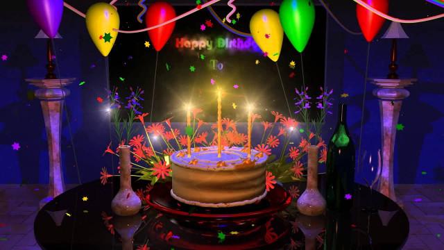 Animated Birthday Cake  Happy Birthday Cake Presentation Animation Video