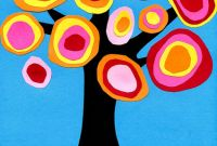 Art Ideas for Kids Unique Kandinsky Tree Collage · Art Projects for Kids