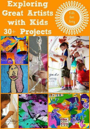 Art Project For Kids  30 Art Projects for Kids looking at the Great Artists