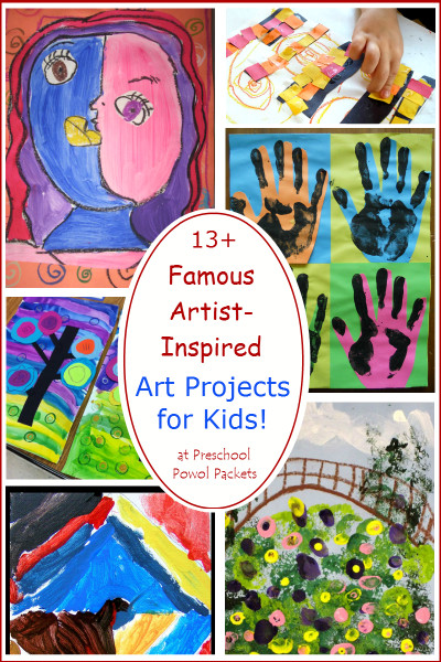 Art Project For Kids  13 Famous Artists Inspired Art Projects for Kids