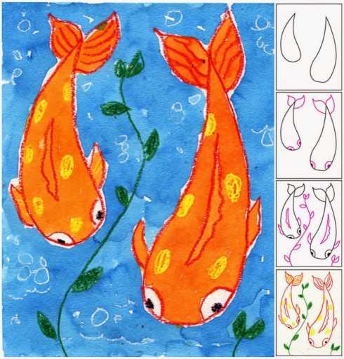 Art Project For Kids  Koi Fish Painting Art Projects for Kids