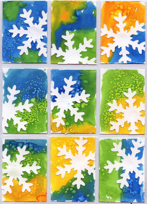 Art Project For Kids  Snowflake ATC Art Projects for Kids