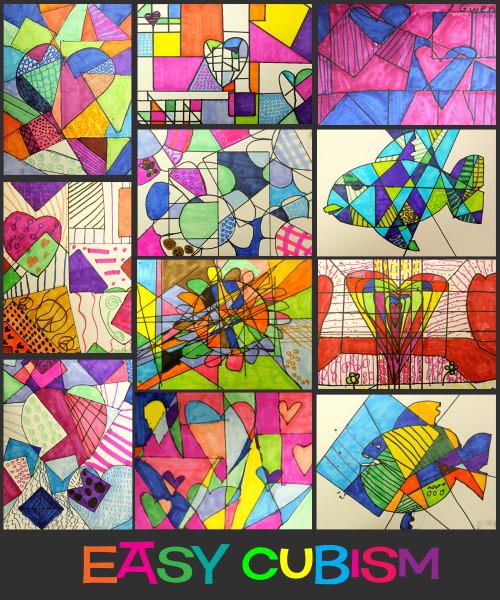Artwork For Kids  Easy Cubism Art Activities Deep Space Sparkle