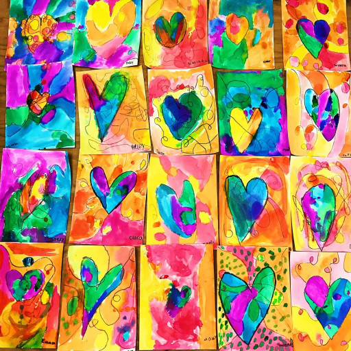 Artwork For Kids  Kids Heart Art Project • Color Made Happy