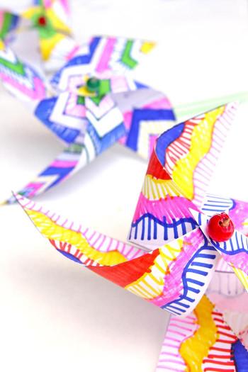 Artwork For Kids  Kids Paper Crafts Op Art Pinwheels Babble Dabble Do