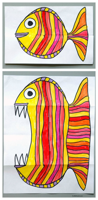 Artwork For Kids  Surprise Ferocious Beings Paper Project