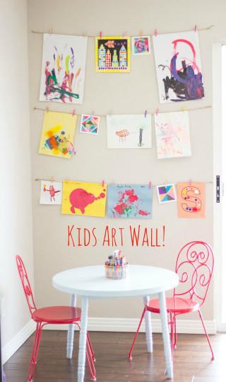 Artwork For Kids  DIY Kids Art Displays The Idea Room