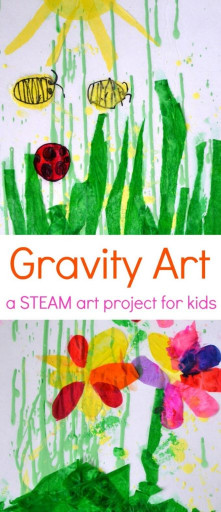 Artwork For Kids  Gravity Painting A STEAM Art Project for Kids