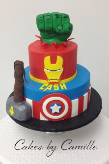 Avengers Birthday Cake  The Avengers Birthday Cake