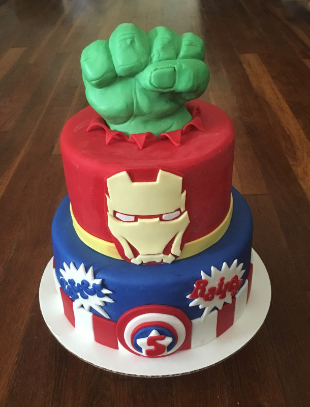 Avengers Birthday Cake  Cakes by Becky