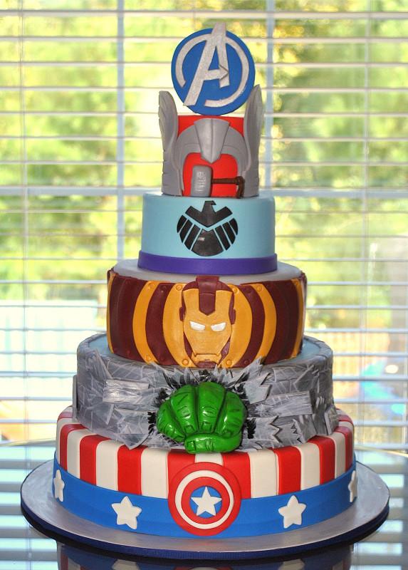 Avengers Birthday Cake Fresh Hope S Sweet Cakes Avengers Cake and Party