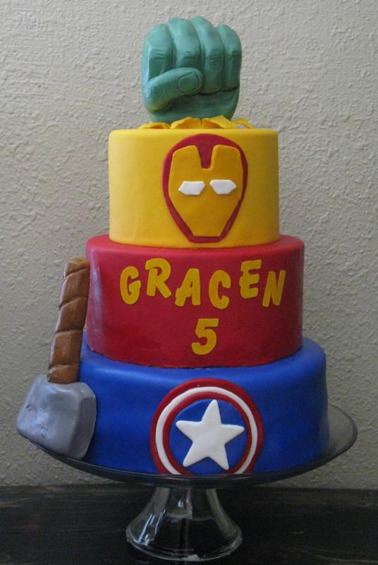 Avengers Birthday Cake  Avengers Cake