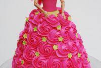 Barbie Birthday Cake Inspirational Pink Rosette Barbie Cake