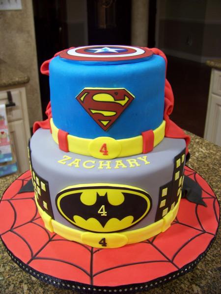 Batman Birthday Cake  Superhero Cake Spiderman Batman Superman & Captain