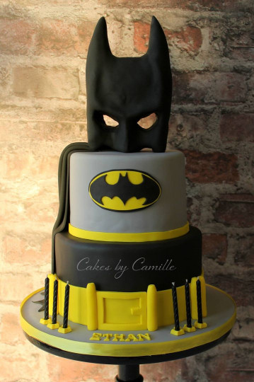 Batman Birthday Cake  Batman birthday cake with mask cape and belt Perfect for