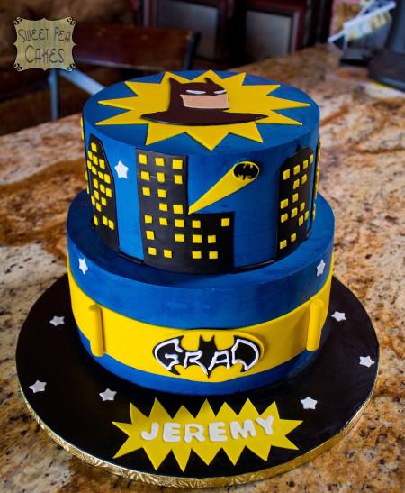 Batman Birthday Cake  Batman Grad Cake CakeCentral