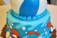 Beach Birthday Cake Best Of Megmade Cakes sophia S Beach Party Cake