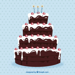 Big Birthday Cake  Big chocolate birthday cake Vector