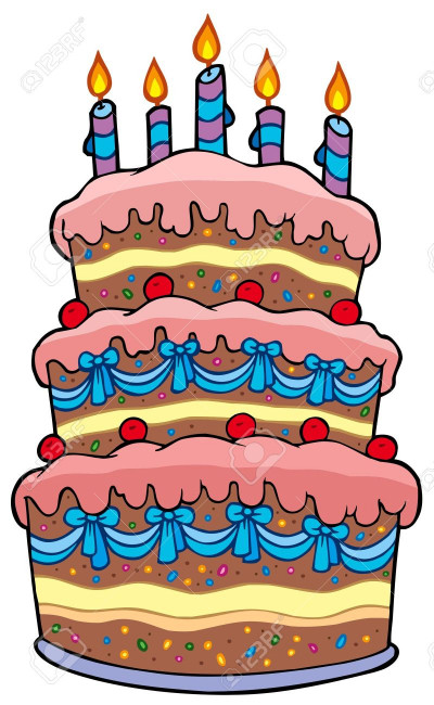 Birthday Cake Cartoon  Cake clipart cartoon Pencil and in color cake clipart