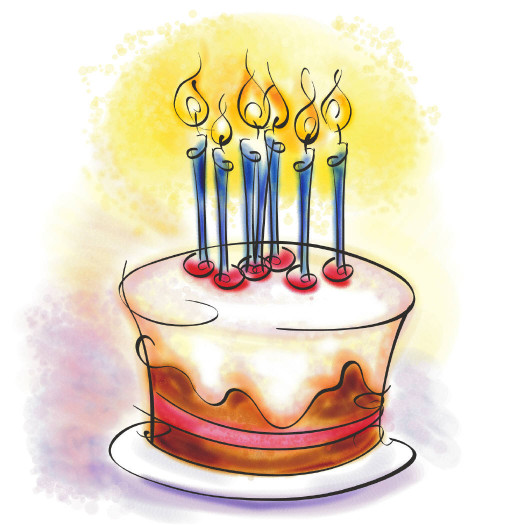 Birthday Cake Cartoon  Blog Birthday