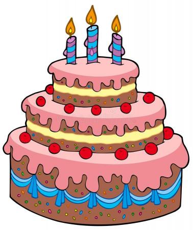 Birthday Cake Cartoon  Big cartoon birthday cake stock vector Illustration of
