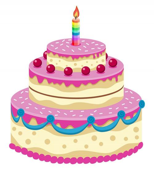 Birthday Cake Cartoon  Animated Birthday Cake Gif Descargar