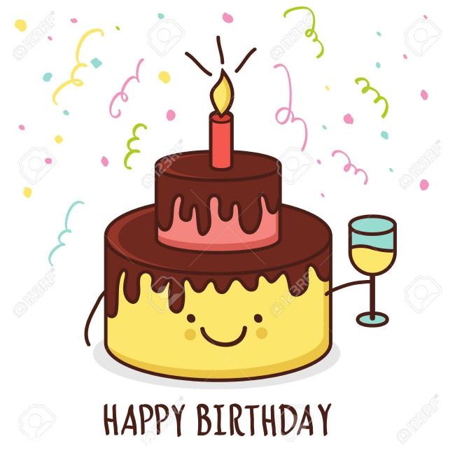 Birthday Cake Cartoon  Cartoon Happy Birthday Cake Pics Auto Soletcshat Image