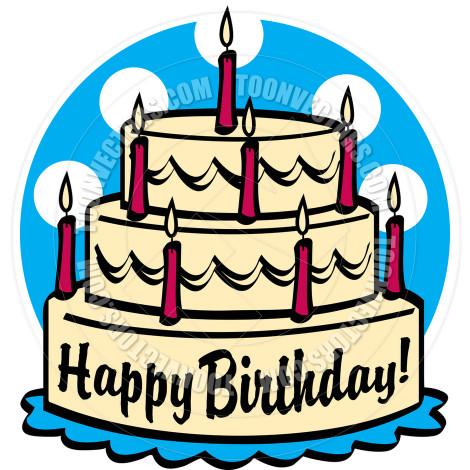 Birthday Cake Cartoon  Happy Birthday Cartoon