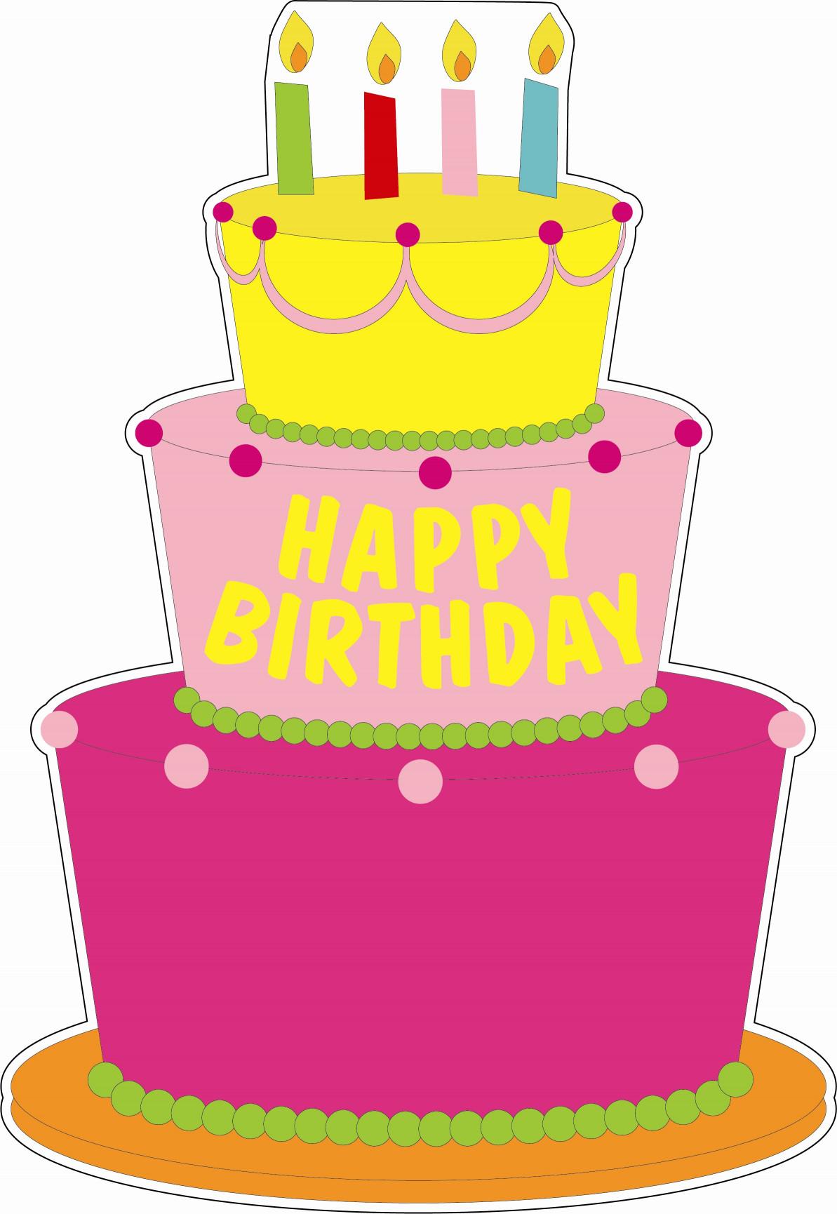 Birthday Cake Cartoon  VA Lawn Greetings VA Yard Cards Virginia Birthday Signs