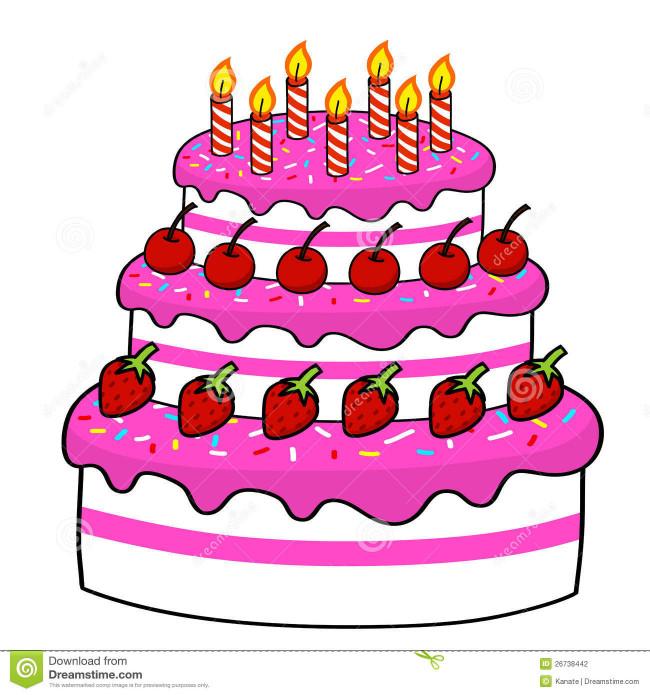 Birthday Cake Cartoon  Birthday Cake Drawing Cartoon at GetDrawings