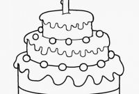 Birthday Cake Coloring Page Awesome Free Printable Birthday Cake Coloring Pages for Kids