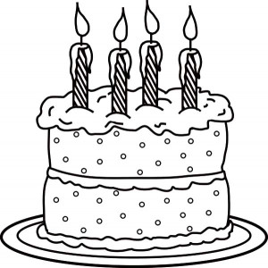 Birthday Cake Coloring Page  Birthday Candle