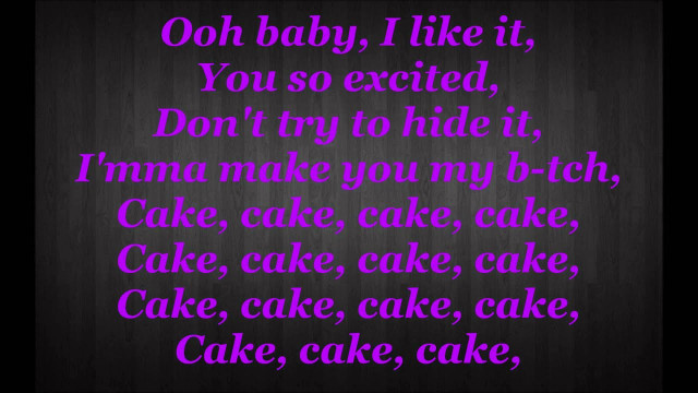 Rihanna Birthday Cake Lyrics