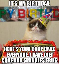 Birthday Cake Meme  Grumpy Cat Birthday Meme Imgflip