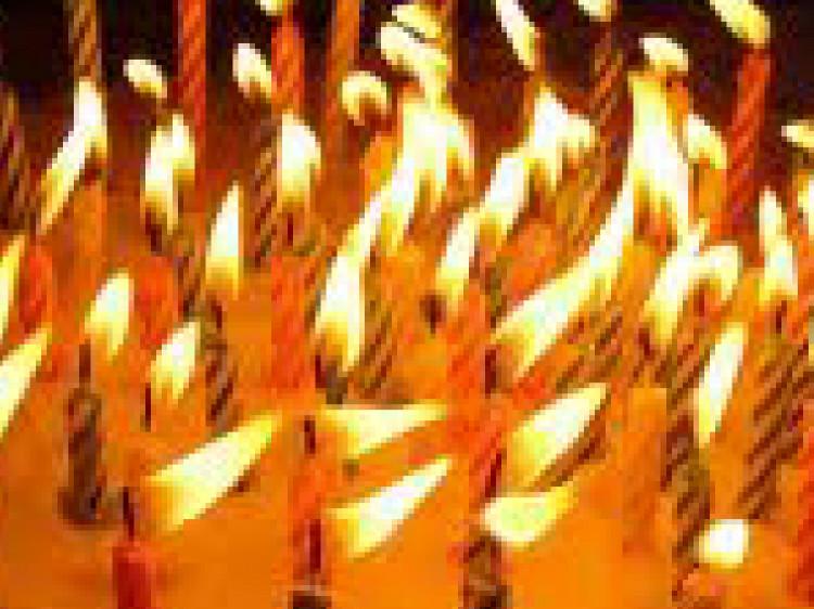 Birthday Cake On Fire  December 2012
