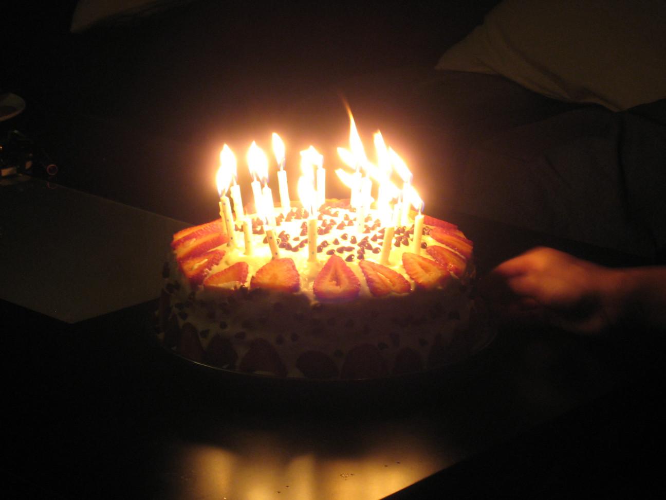 Birthday Cake On Fire  Happy Birthday Cake