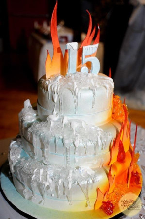 Birthday Cake On Fire  337 best images about Hot Cakes on Pinterest