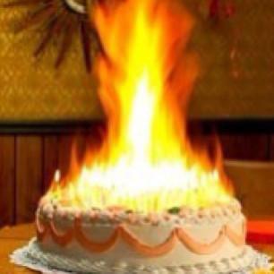Birthday Cake On Fire  Birthday cake on FIRE