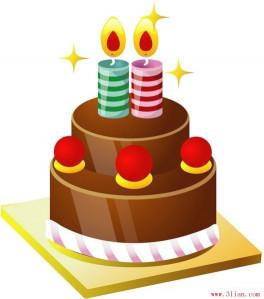 Birthday Cake Vector  Birthday cake vector Free vector in Adobe Illustrator ai