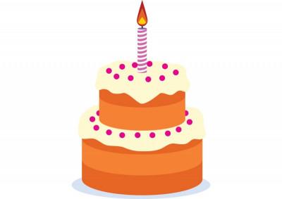Birthday Cake Vector  Birthday cake free vector drawing