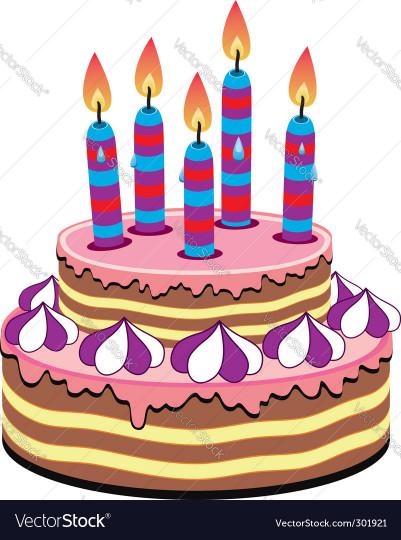 Birthday Cake Vector  Birthday cake Royalty Free Vector Image VectorStock