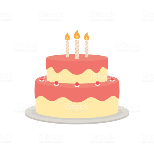 Birthday Cake Vector  Birthday Cake Vector Isolated Illustration Stock Vector
