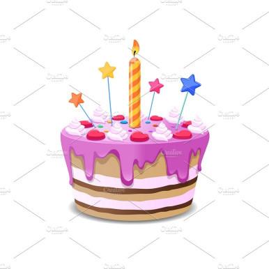 Birthday Cake Vector  Birthday cake vector Illustrations Creative Market