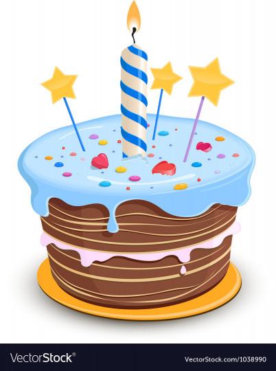 Birthday Cake Vector  Happy Birthday Cake Royalty Free Vector Image VectorStock