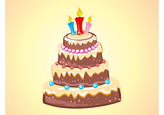 Birthday Cake Vector  Chocolate Cake Download Free Vector Art Stock Graphics