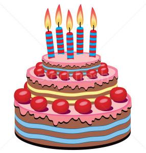 Birthday Cake Vector  vector birthday cake vector illustration © Dmitry