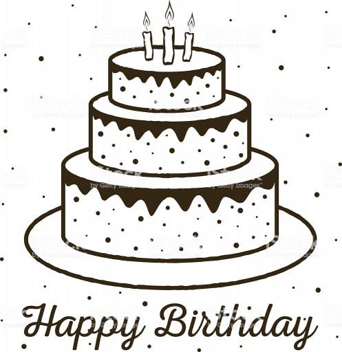 Birthday Cake Vector  Happy Birthday Greeting Card Birthday Cake Stock Vector