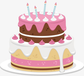 Birthday Cake Vector  Sweet Pink Cake Cake Clipart Vector Cute Cake PNG
