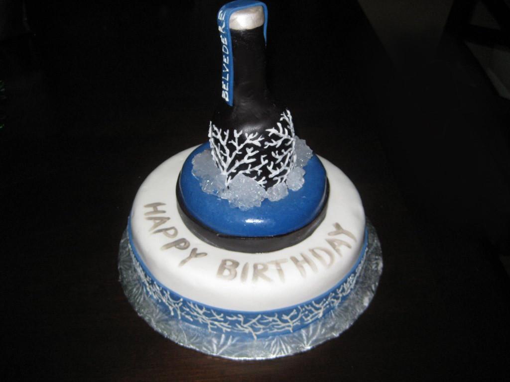 Birthday Cake Vodka  Belvedere Vodka bottle cake Birthday Cakes